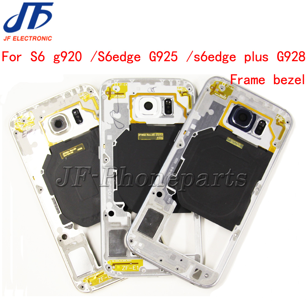 10pcs Middle Back Frame Chassis Plate Bezel Back Housing Replacement For Samsung Galaxy S6 G920 S6