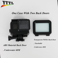 2 Back Doors Underwater 60M for Go Pro Hero 5 Waterproof Case Touchable for Gopro Hero 5 Housing Cover Accessories Black