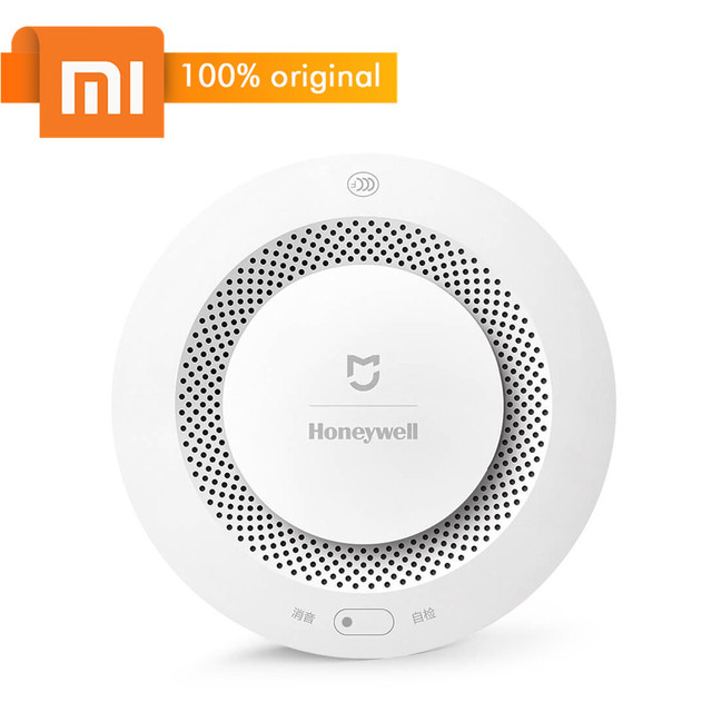 US $25 99 |Xiaomi Mijia Smoke Detector Honeywell Fire Alarm Smoke Sensor  Smart Home security and protection Wifi APP Remote Control Gateway-in Smart