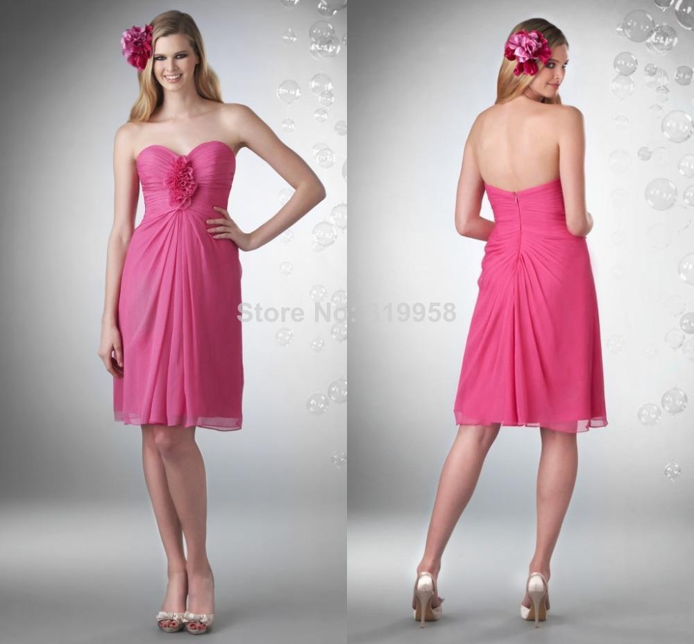 Promoción de Caliente Vestido De Dama De Honor De La Flor - Compra ...