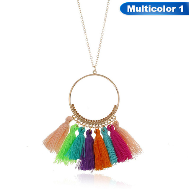 Bohemia Fashion Hot Sale Style Long Tassel Pendant Necklace For Women Jewelry 2018 New Long Chain Fringed Necklace Freeshipping