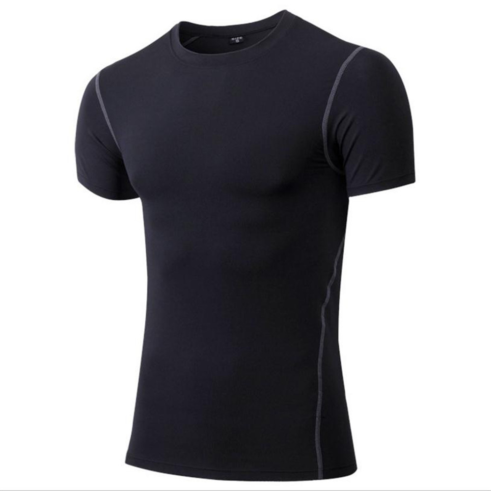 YUERLIAN Men Trainning Tight Fitting Clothes Sport T-shirt Flexible Quick Dry Shirts Running Exercise Breathable Cool Suits