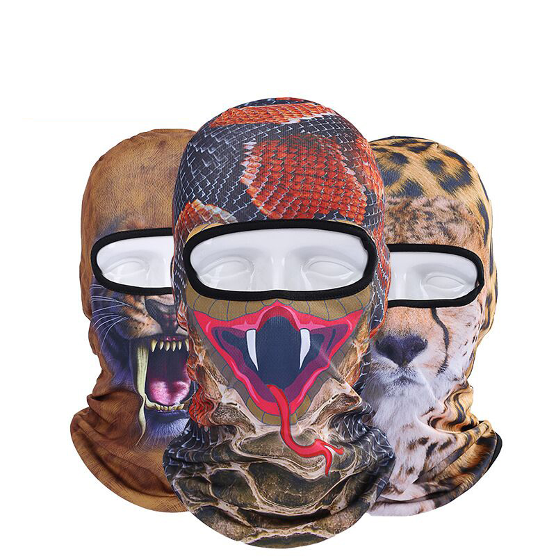 Beanie Real 2017 New 3d Animal Outdoor Sports Fishing Bicycle Cycling Motorcycle Cap Hood Hat Ski Balaclava Uv Full Face Mask women beanie new hot sale 3d zebra animal hood hat balaclava full face mask outdoor sports bicycle cycling ski motorcycle masks