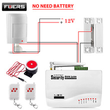 FUERS Russian English Voice Wired GSM Alarm System Dual Antenna GSM Home Alarm Security App Control Protection Auto Dial DIY yobang security english russian spansih voice prompt sim home security wifi gsm alarm system app remote control