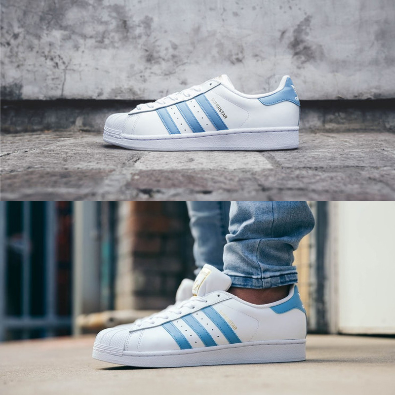Adidas Originals Men Women Sneakers White Blue Stripe Skateboarding ... 8702128dc848