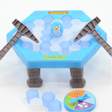 Desktop Game Funny Save The Penguin Ice Breaking Great Family Funny Ice Knocking table toy Kid educational Toy for children Gift