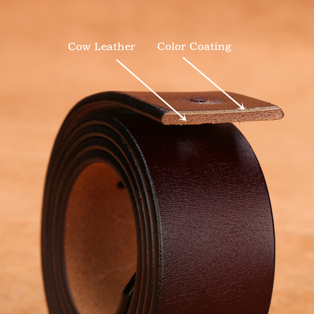 BISON DENIM Belt Cowskin Genuine Leather Personality Men belt 2