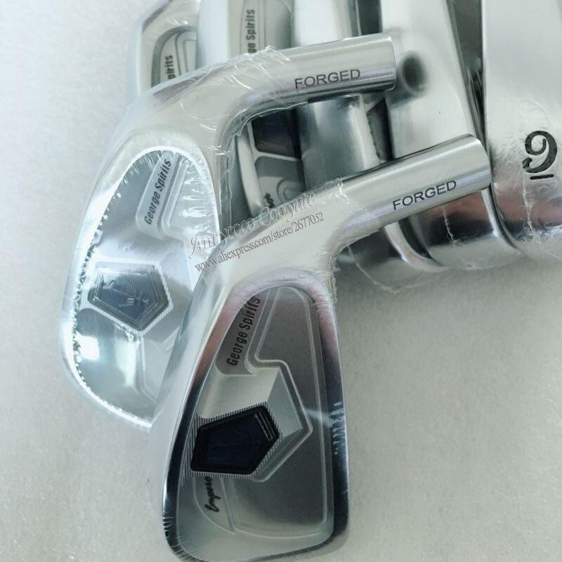 New Cooyute George spirits Golf head set Forged carbon stee Golf irons head set 4-910 Golf irons head No shaft Free shipping
