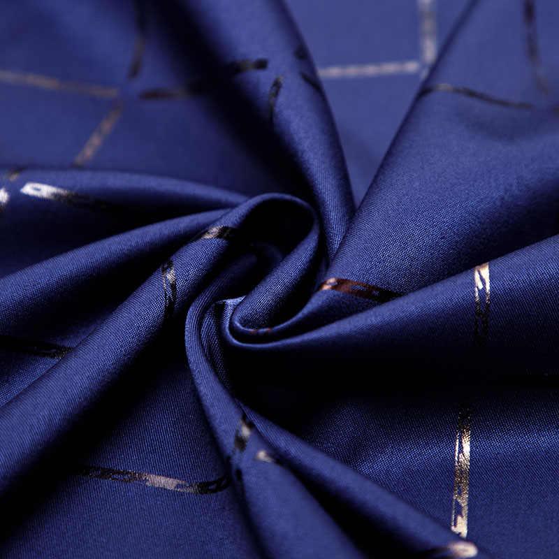 2019 Kasual Spring Luxury Plaid Lengan Panjang Slim Fit Kemeja Pria Streetwear Sosial Kemeja Pria Mode Jersey 2309
