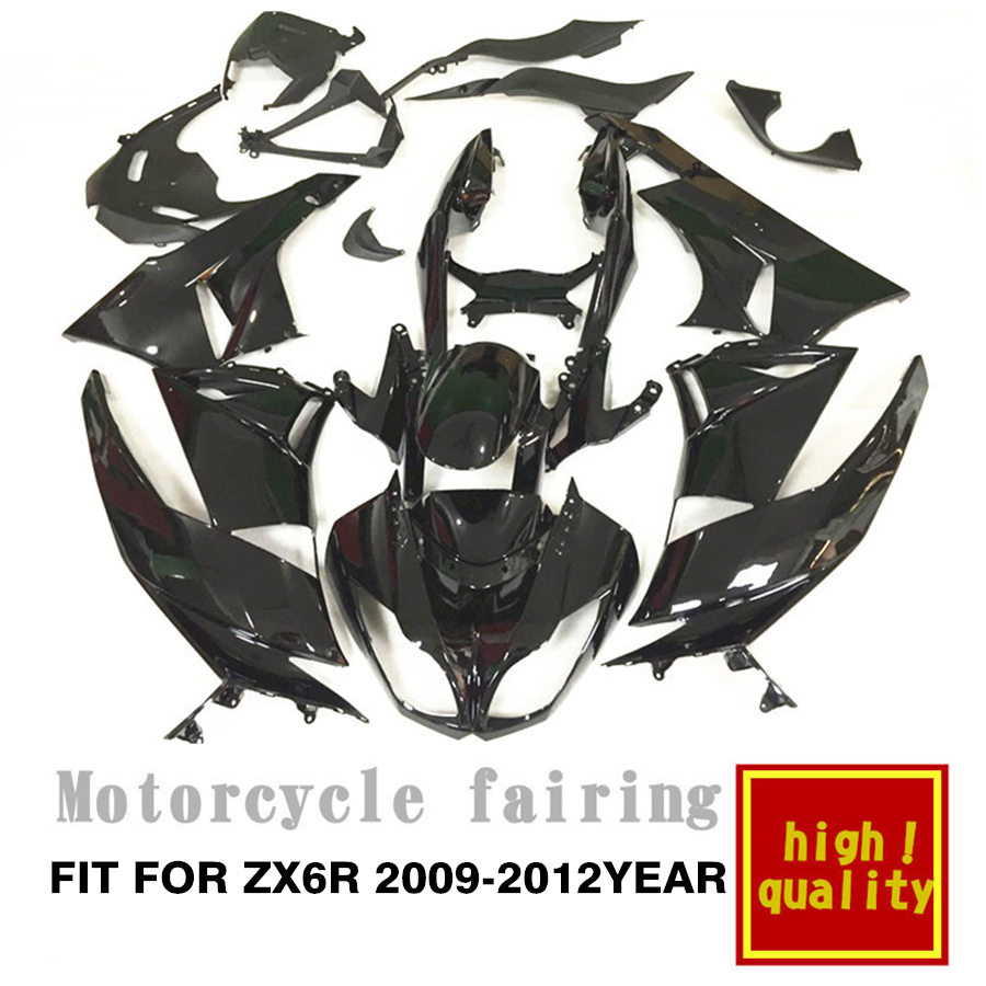 free shipping for ZX6R 2009 2010 2011 2012 year Aftermarket Motorcycle all black color Fairing (Injection Molding)free shipping for ZX6R 2009 2010 2011 2012 year Aftermarket Motorcycle all black color Fairing (Injection Molding)