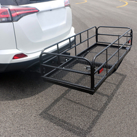 Removable Car Back Storage Shelf Stainless Steel 500lb Load Foldable Trunk Car Multi function Travel Self driving Tour Basket