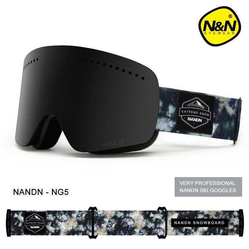 Nandn новые лыжные очки двойной УФ 400 Анти-туман большой Лыжная маска очки мужские и женские лыжи снег сноуборд очки многофункциональный очки