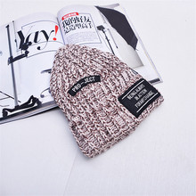 New Hip-Hop Knitted Hat For Women Autumn Winter Warm Casual with Letter Print Pinstripe Caps for women and Girls