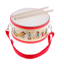 цена на Polyester Snare Drum Hand Percussion Set for 1-10 Years Children Kids Musical Instrument Educational Toys