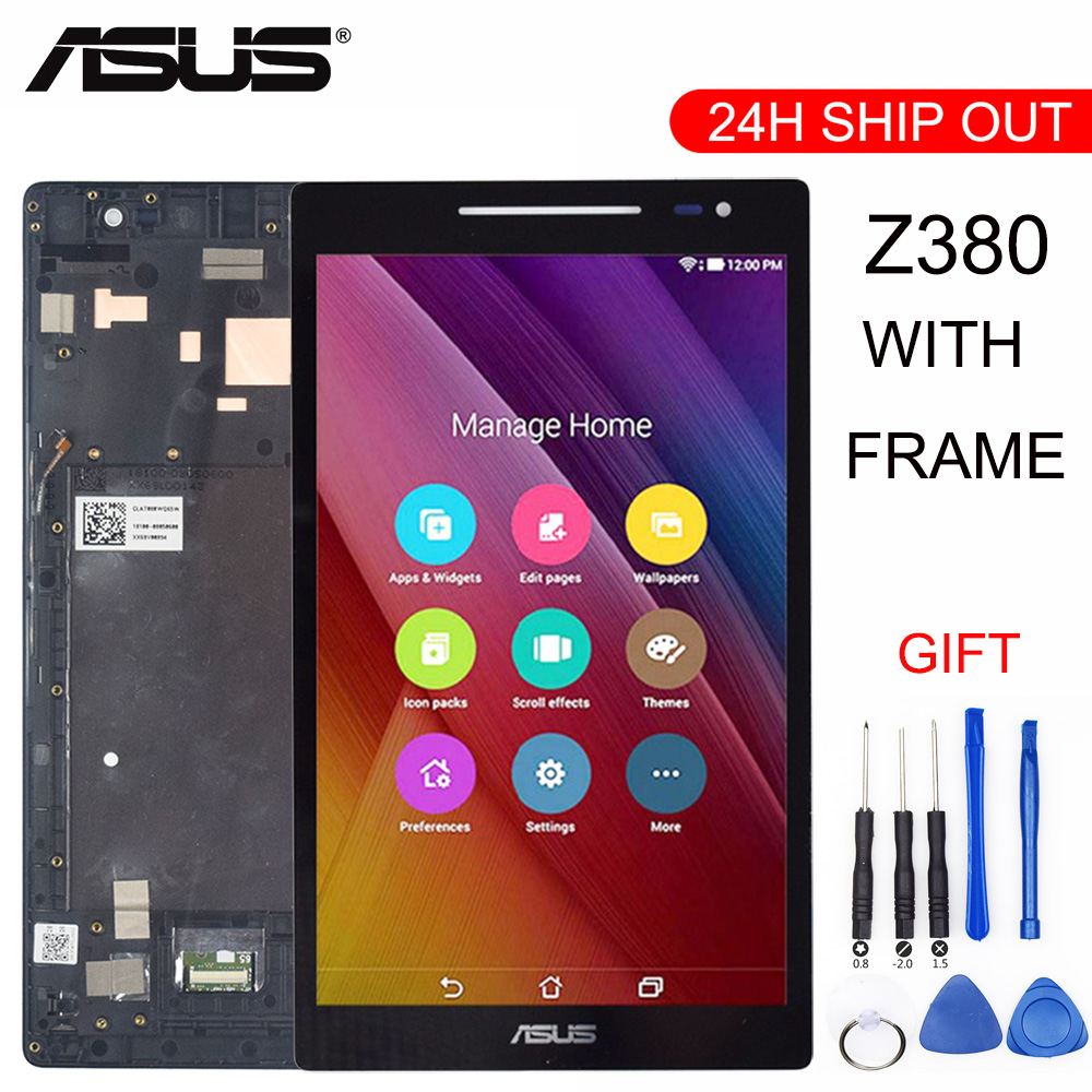 New For Asus Zenpad 8.0 Z380 Z380KL Z380CX Z380CX Z380C Z380M P024 LCD DIsplay + Touch Screen Digitizer Assembly with Frame все цены