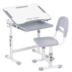 Dikirim dari Amerika Serikat Tinggi Disesuaikan Anak-anak Belajar Meja Kursi Set Pemegang Gulungan Kertas 0-40 Yang Dapat Dimiringkan Anak-anak Set Meja bingkai Logam
