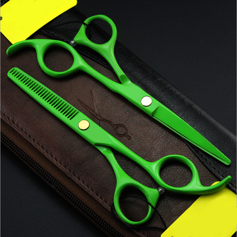4 szín 5,5 hüvelykes haj olló, hígító és vágószalon - Hajápolás és hajformázás