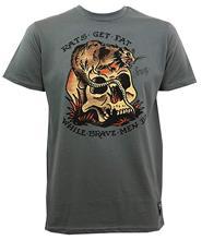 Camisa de algodão dos homens do verão dos homens dos homens dos ratos do marinheiro jerry obter a gordura magro ajuste t camisa