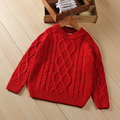Kids children boys and girls sweater children sweater autumn solid twist hedging sweaters khaki and red sweaters