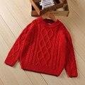 Niños niños niños y niñas niños suéter suéter otoño giro sólido suéteres suéteres de cobertura de color caqui y rojo