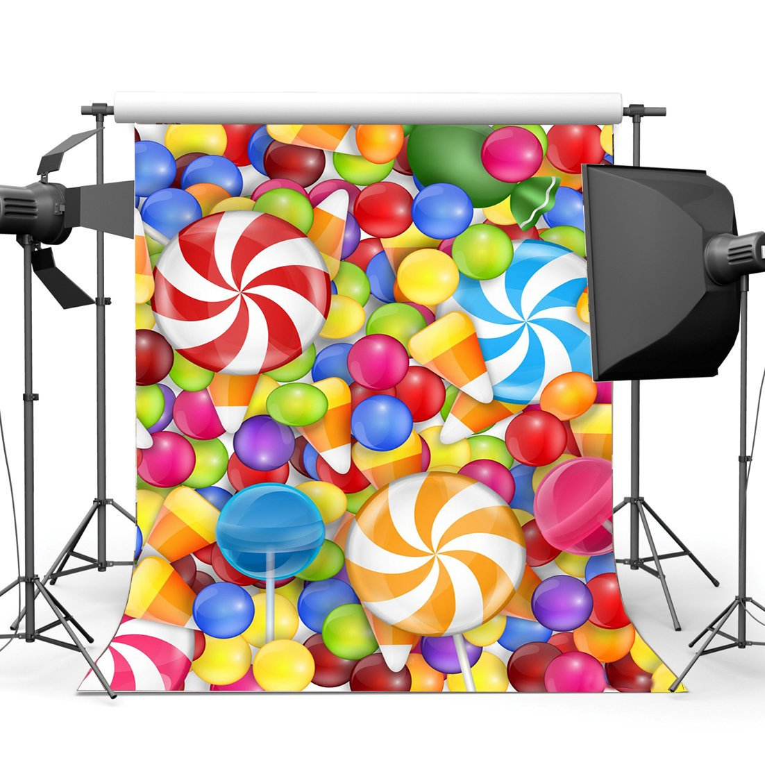 Valentine's Day Backdrop Sweet Candy Lollipops Baby Shower Photography Background