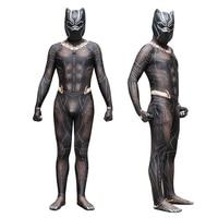 Black Panther Erik Killmonger Gold Jaguar Cosplay Costume 3D print zental Bodysuit Jumpsuit Fancy Zentai Mask Cosplay costumes