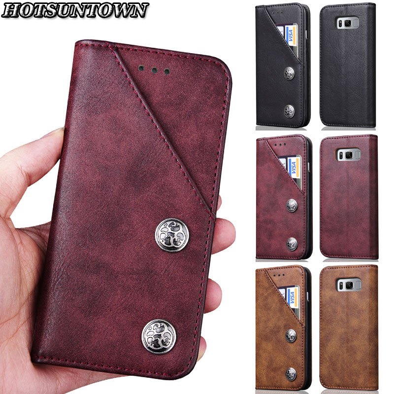 For Hoesje Samsung S8 Case Flip Luxury Magnetic Phone Cases Funda Samung Galaxy S8 Plus  ...