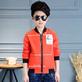 Baby Boy New Fashion Coat For Children Jackets Spring& Autumn Solid High Quality Outwear Kids Clothes For 6-15 Year