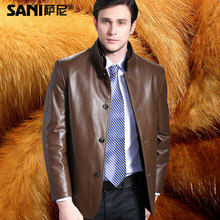 2016 Winter Thick Gold Mink Liner Male Sheepskin Fur Genuine Leather Warm Commercial Leisure Clothing Outerwear Jackets Coats