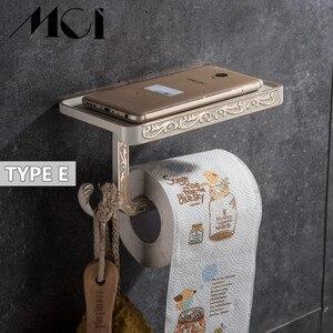 Image 5 - Antico Intagliato Accessori Per il Bagno Supporto Del Telefono Cellulare di Carta Con Mensola del Bagno Portasciugamani Porta Carta Igienica Scatole di Tessuto