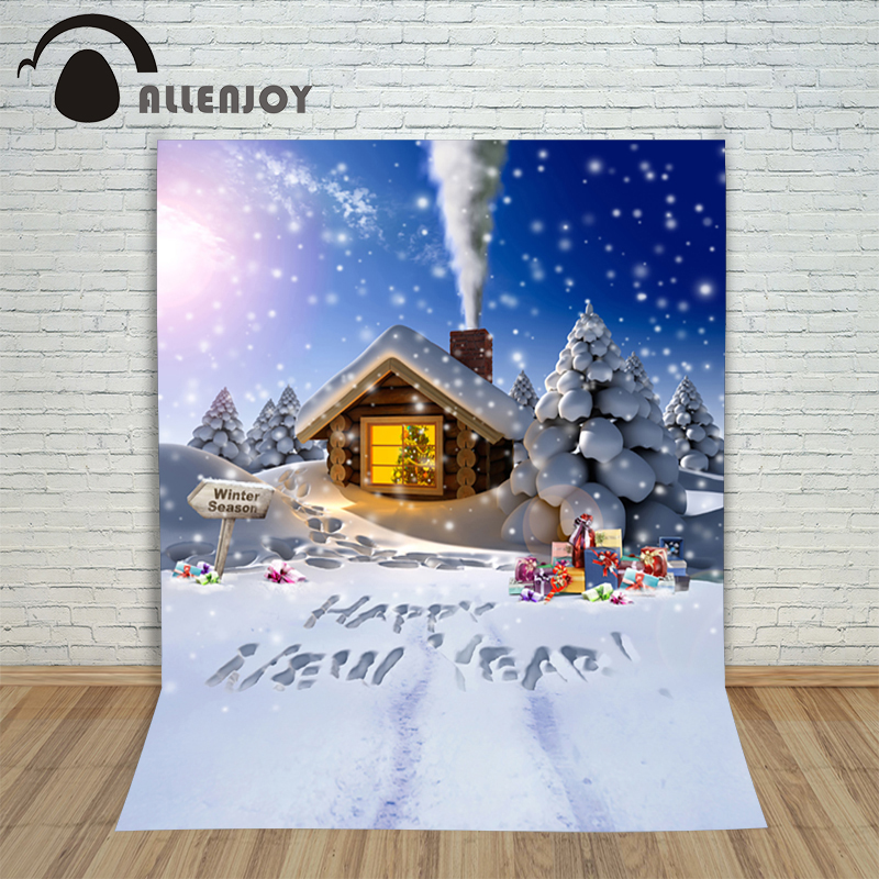 Backgrounds for photo studio christmas Snow house signpost gift kids Fairy tale wonderland lovely happy photography backdrop christmas background pictures vinyl tree wreath gift window child photocall fairy tale wonderland camera photo studio backdrop