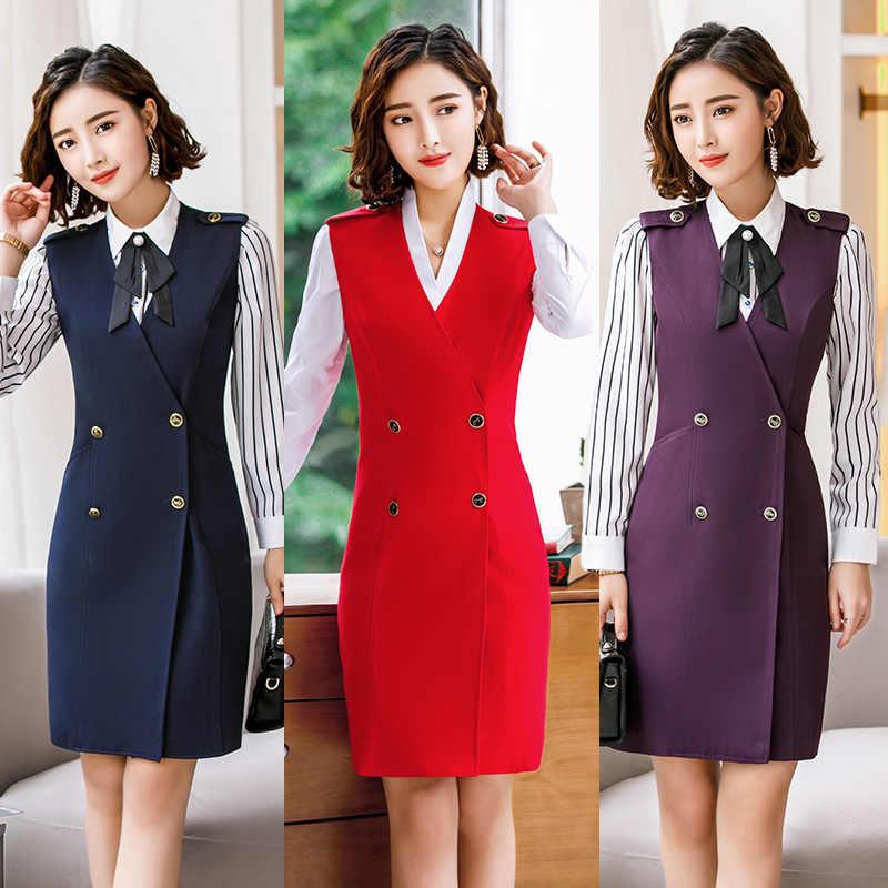 025074017b 2018 elegant designs women s suits formal office Lady dress ladies suit  dresses Work outfit wear business