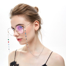 Eyeglass Chains Reading Glasses Rope Fashion Colorful Rhinestone Silicone Anti-slip Eyewear Accessories