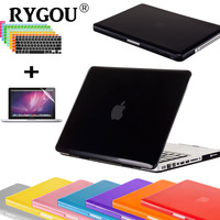 For Macbook Pro 13 15 Case Metalish Color Rubberized Snap On Skin Case With Keyboard Cover