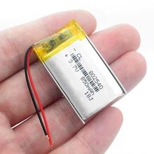 3,7 v li po li-Ion батареи 3 7v пакет 3,7 V литий-полимерный аккумулятор 802540 082540 850MAH для gps MP3 MP4 MP5 светодиодный светильник RC Дрон