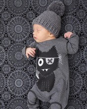 2016 fashion baby boy clothes long sleeve baby rompers newborn cotton baby girl clothing jumpsuit infant clothing roupas de bebe sleeveless skull baby boy girl summer rompers clothes cotton black gray baby boy clothing 2016 new cotton infant kids boys girls