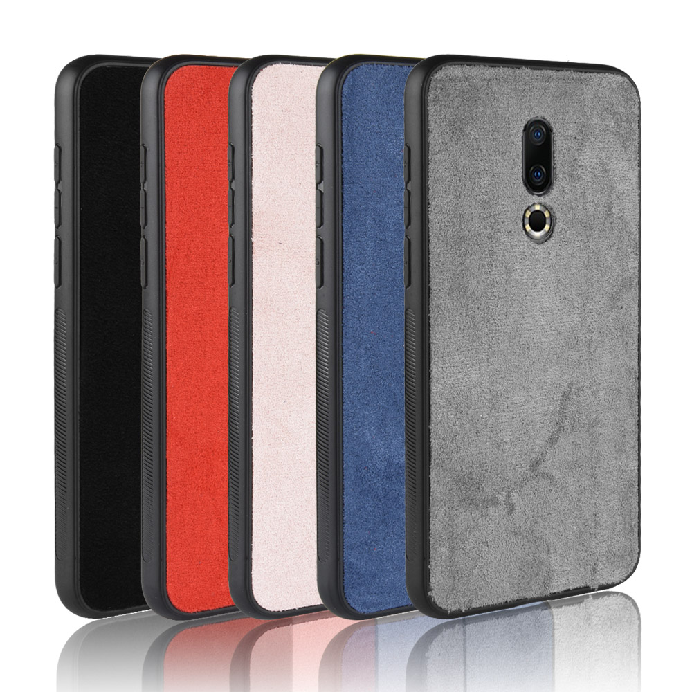 For Meizu 16 Case Oppo For Meizu 16th Plus Silicone Edge Shockproof Genuine Plush Leather Phone Cover For Meizu 16 Plus 16th