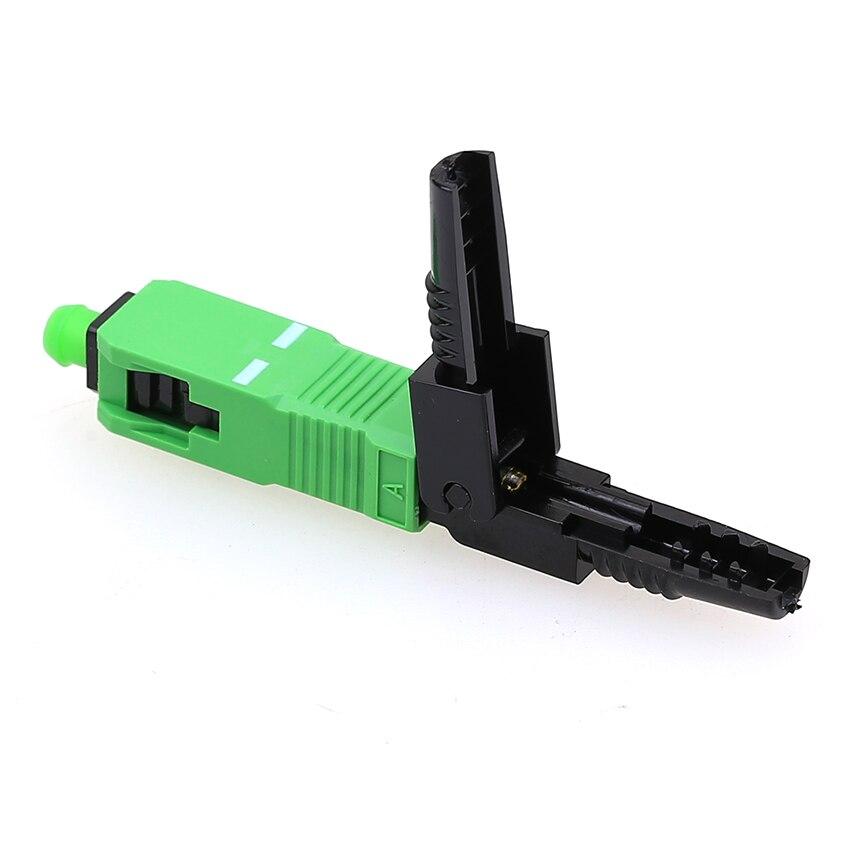 100PCS box FTTH SC APC single mode fiber optic SC APC quick connectorFiber Optical Fast Connector