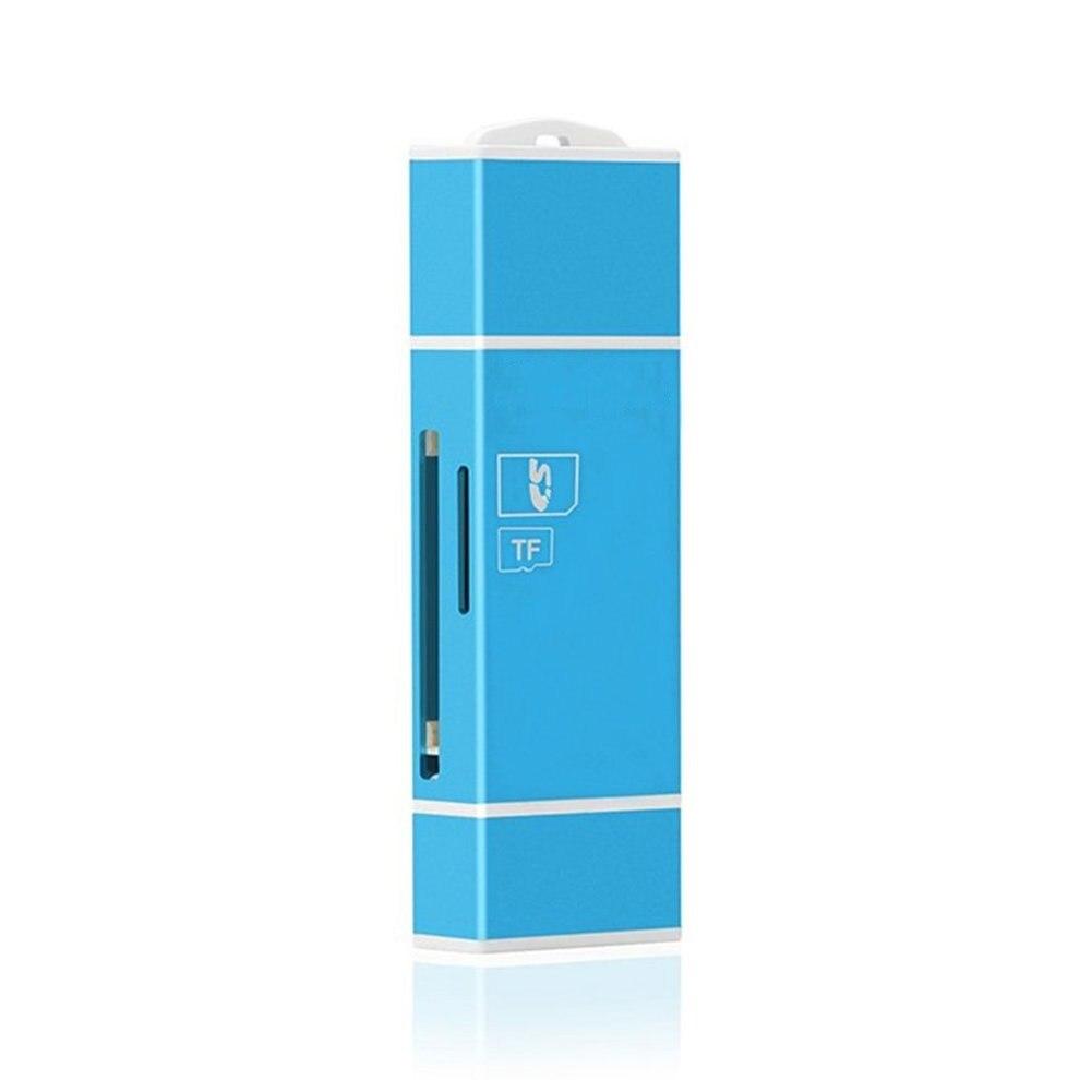 5 pcs Bleu Portable Mini 3 Dans 1 TF Mémoire Secure Digital Carte OTG Lecteur de Carte Carte D'extension Pour IOS pour Android Ordinateur