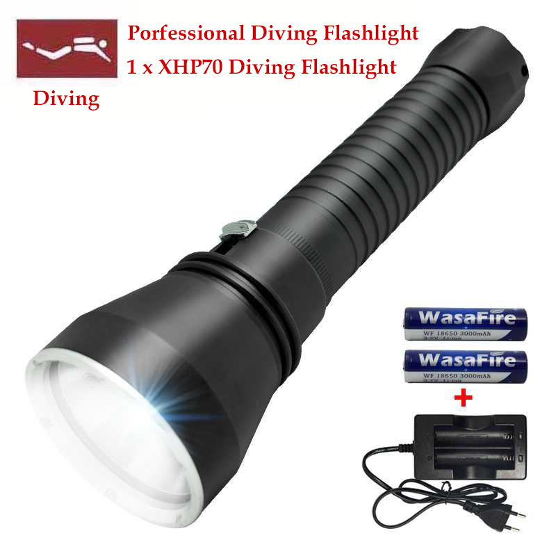 New Underwater Lamps XHP70 LED Diving Lighting 200M Torch 5000 Lumen Flashlight Lamp for Underwater Hunting Sky Ray Light