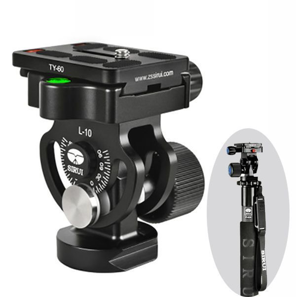 Sirui L-10 L10 2 Dimensional Head Pro Two-dimensional Heads For Monopod Tripod With TY-60 Quick Release Plate DHL Free Shipping