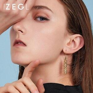 Image 3 - ZEGL female earrings gold earrings wheat ear burst models long earrings pendant earrings European and American niche rural style