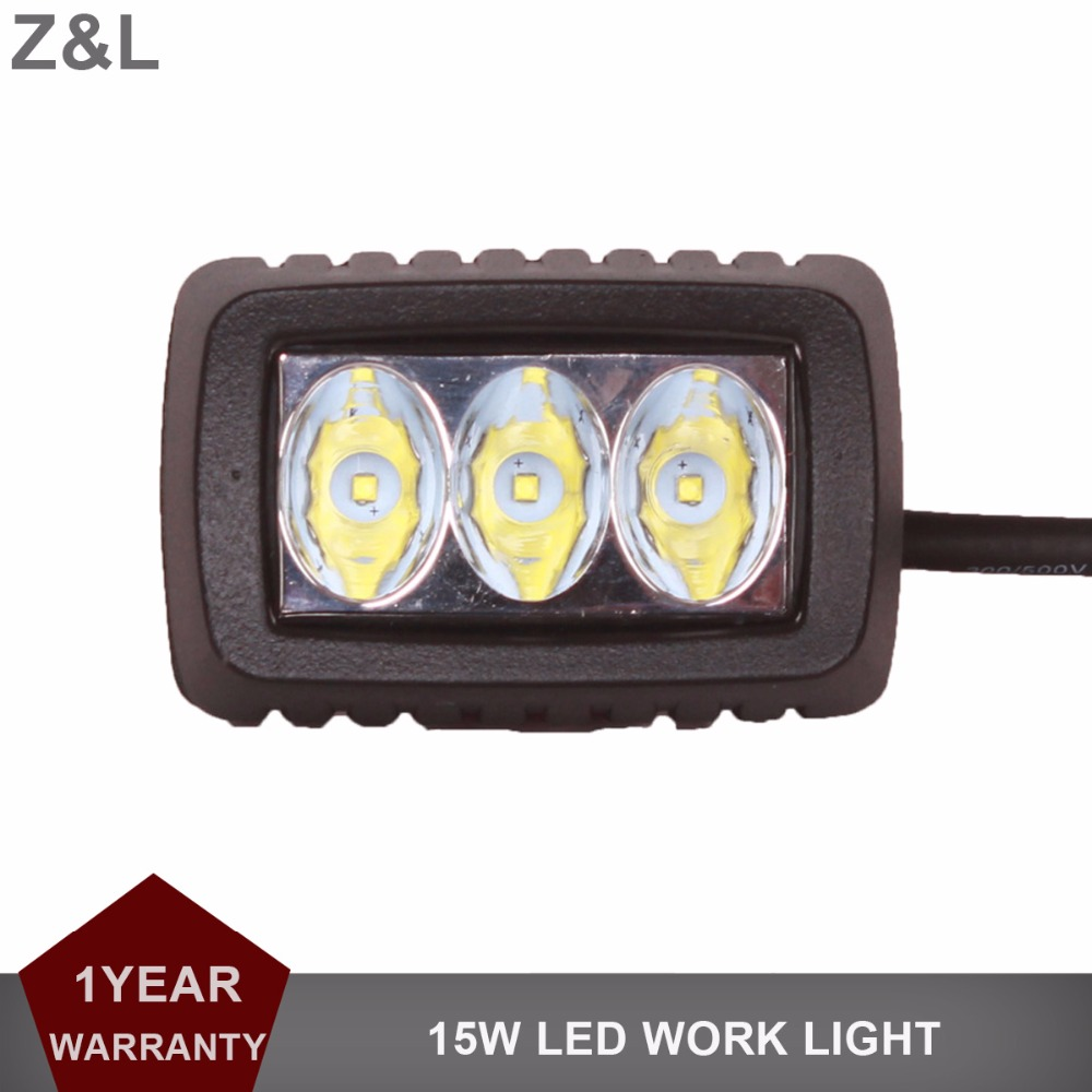 15W Offroad LED Work Light Bar 12V 24V Car Motorcycle Truck SUV Bicycle ATV 4X4 4WD AWD UTE Tractor Trailer Headlight Fog Lamp