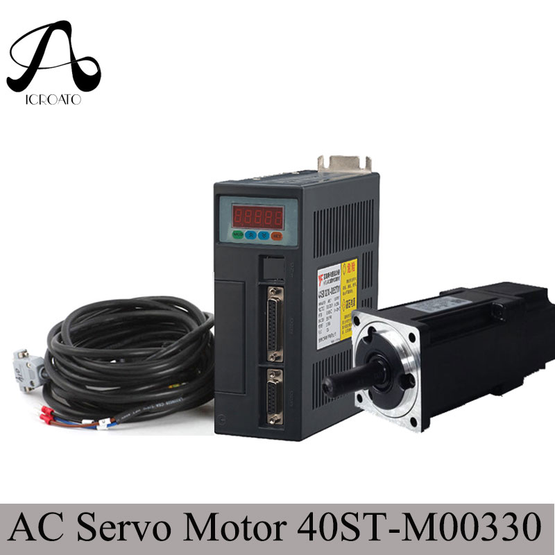 Free Shipping Servo motor 40ST-M00330 40ST AC servo motor 0.32N.M 100W 220v 10A 2500rpm + ac servo drive and motor free shipping used in good condition like stepper motor without gear cmp80s bp ky rh1m sb1 400v ac servo motor drive ems