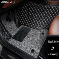 ZHAOYANHUA Car floor mats for Audi A6 C5 C6 C7 A4 B6 B7 B8 Allroad Avant A3 A5 A7 A8 A8L Q3 Q5 Q7 5D car styling carpet liners