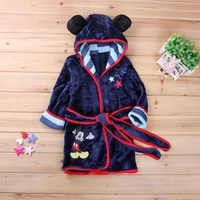 Baby Robe For Girls Cartoon Print Minnie Mickey Children Bathrobe Coral Pajamas Warm Infant Children Clothes Boys robes 2-6Y