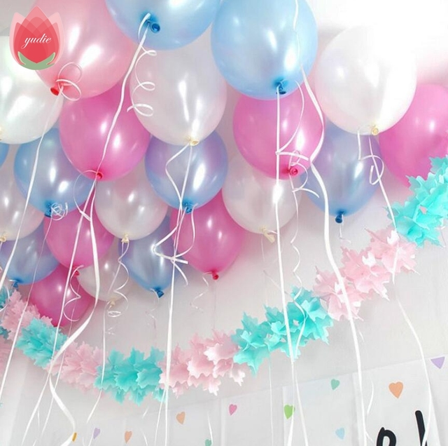 10pcs 10inch White latex balloon Helium air balls inflatable wedding party decoration kid birthday Float Multicolor balloons