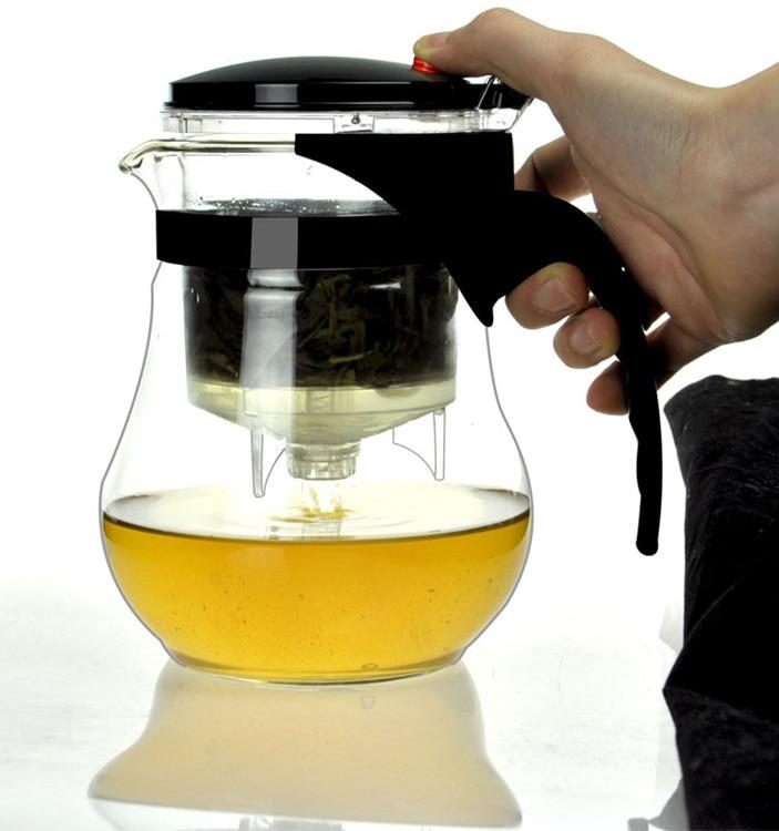 1PC Fashion Durable Glass Teapot Simple Heat-Resistant Clear tea kettle tea-pot Household Tea Pot Set JO 1059