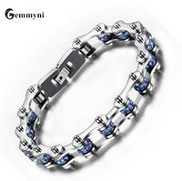 Punk Men S Motor Bike Motorcycle Chain Bracelet Titanium Stainless Steel Bangle Cool Biker Bicycle For