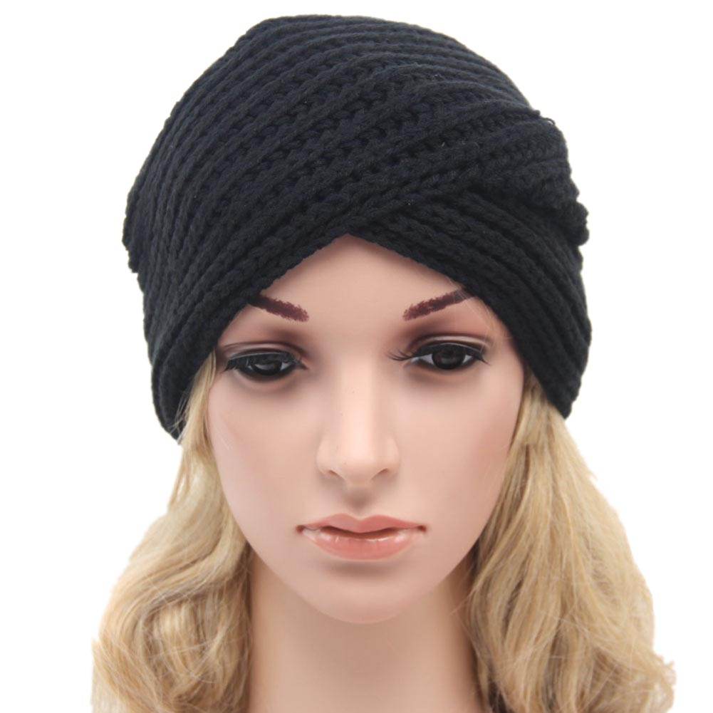 Fashion Women Knitted Turban Hat India Plate Head Cap Autumn Winter Keep Warm Cute Beanies Lady Girl Crochet Cross Hats pastoralism and agriculture pennar basin india
